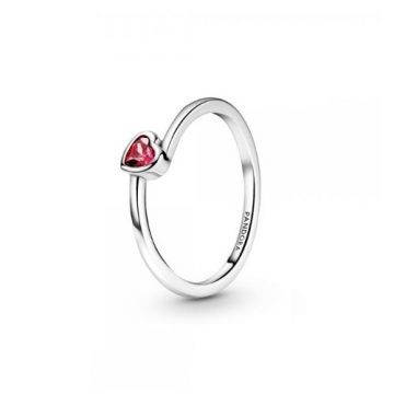 Pandora piros döntött szív szoliter gyűrű 199267C01