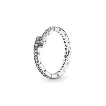 Pandora Szikrázó átlapolt gyűrű 199491C01
