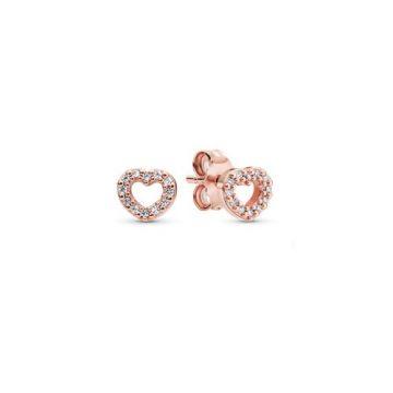 Pandora Rabul ejtett szív rose fülbevaló 280528CZ