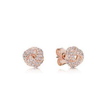 Pandora rose szikrázó szeretetcsomók fülbevaló 280696CZ