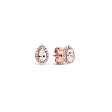Pandora rose ragyogó könnycsepp fülbevaló 286252CZ