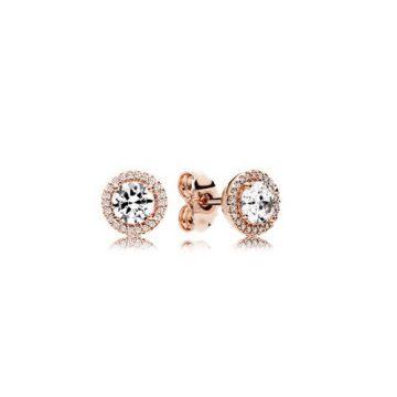 Pandora rose klasszikus elegancia fülbevaló 286272CZ