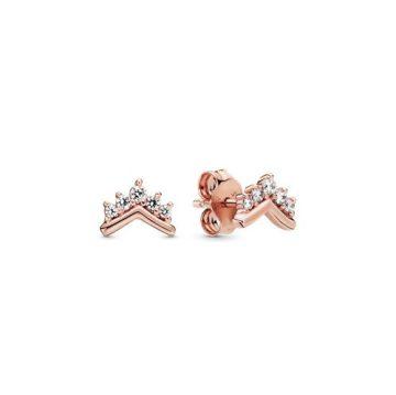 Pandora hercegnői kívánság rose gombfülbevalók 288274CZ