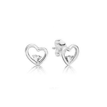 Pandora aszimetrikus szív fülbevaló 297813CZ