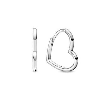Pandora Aszimetrikus szívek karika fülbevaló 298307C00