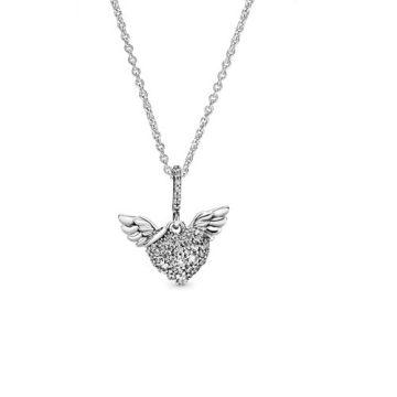 Pandora pavé szív angyalszárny nyaklánc 398505C01-45
