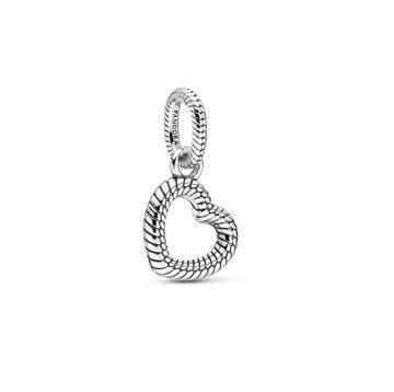Pandora kígyólánc mintás nyitott szív medál 399094C00