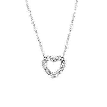 Pandora Pavé kígyólánc mintás nyitott szív collier nyaklánc 399110C01