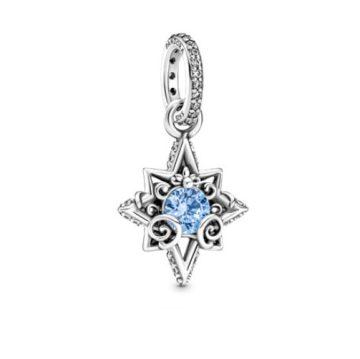 Pandora Disney Hamupipőke kék csillag medál 399560C01