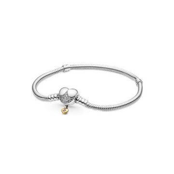 Pandora Shine Disney Moments szívkapcsos kígyólánc karkötő 569563C01