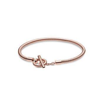 Pandora Momets Rose T-kapcsos kígyólánc karkötő 589087C00
