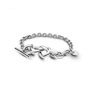 Pandora összefonódó szív karkötő 598100
