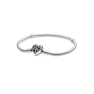 Pandora moments szív záras családfa kígyólánc karkötő 598827C01