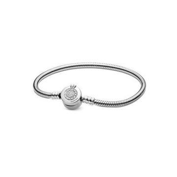 Pandora Moments szikrázó koronás O és kígyólánc karkötő 599046C01
