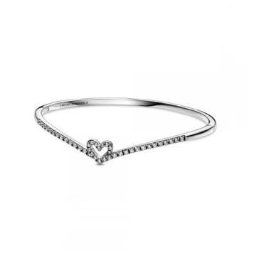 Pandora köves kívánság és szív karperec 599297C01