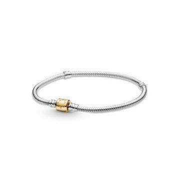 Pandora Moments Kéttónusú hengerkapcsos kígyólánc karkötő 599347C00