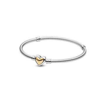 Pandora Kupolás arany szívkapcsos kígyólánc karkötő 599380C00