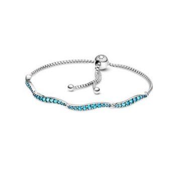 Pandora kék hullámos csúszózáras karkötő 599436C01