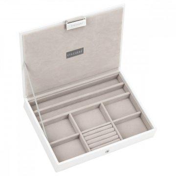 Stackers fehér classic fedeles doboz 70957