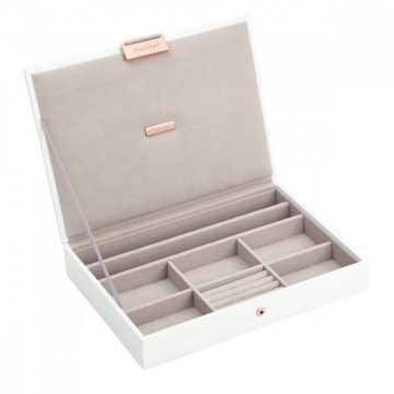 Stackers fehér/rosegold classic fedeles doboz 73543