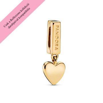 Pandora Reflexions shine lebegő szív charm 768672C00