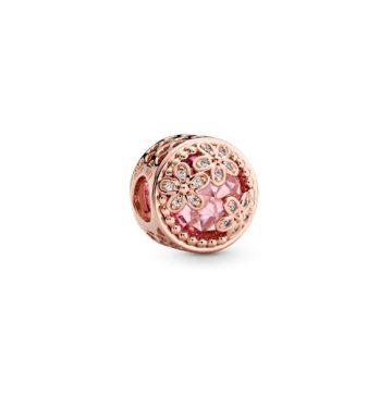 PANDORA Rose Szikrázó Rózsaszín Százszorszép Charm 782055C01