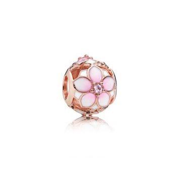 Pandora Magnólia Virágzás Rose Charm 782087NBP