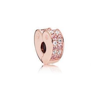 Pandora Rose Ívelt Szív Klip 787020NPM