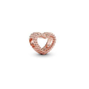 Pandora Gyöngyös Szív Rose Charm 787516