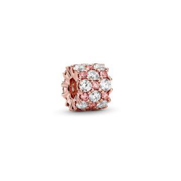 Pandora Rózsaszín és áttetsző szikrázó charm 788487C01