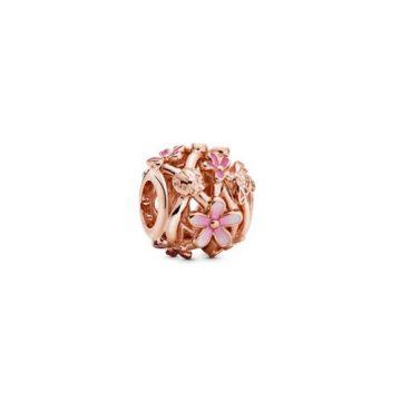 Pandora Rose Áttört Rózsaszín Százszorszép Charm 788772C01