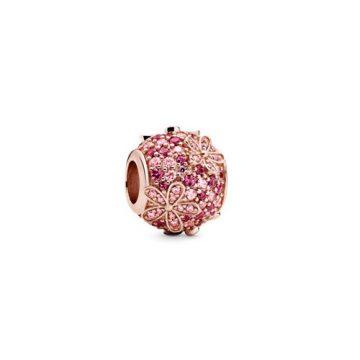 Pandora Rose Rózsaszín Pávé Százszorszép Charm 788797C01