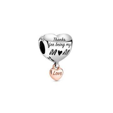 PANDORA Szeresd az anyukádat szív charm 788830C00