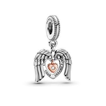 Pandora Club 2021 angyalszárnyak és szív függő charm 789296C01