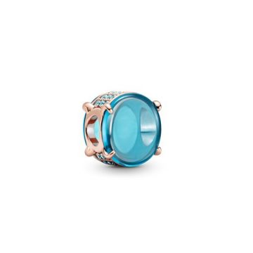 Pandora Rose ovális kék cabochon charm 789309C01