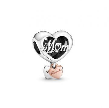"""Pandora """"Köszönöm, anya"""" szív charm 789372C00"""