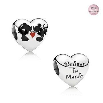 Pandora Disney, Minnie & Mickey Csók Charm 791443ENMX
