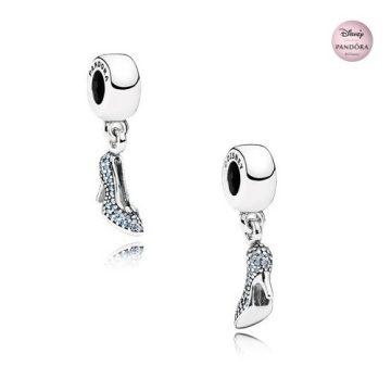 Pandora Disney Hamupipőke csillogó üvegcipellője függő charm 791470CFL