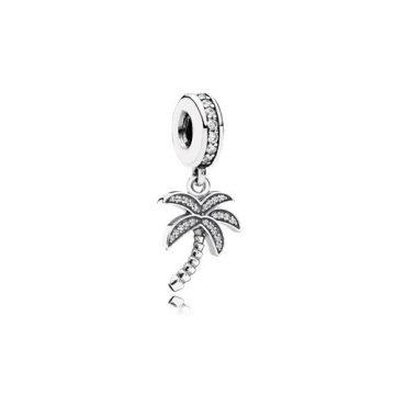 Pandora Szikrázó pálmafa függő charm 791540CZ