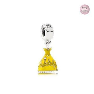 Pandora Disney Belle ruhája függő charm 791576ENMX