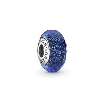 Pandora Színjátszó kék fazettált üveg charm 791646