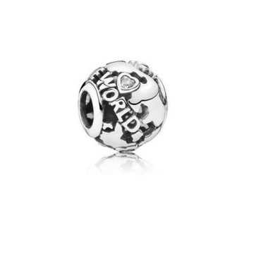 Pandora A Föld körül áttört mintás charm 791718CZ