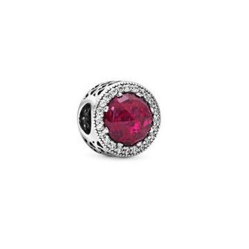 Pandora Cseresznyeszínű ragyogó szív charm 791725NCC