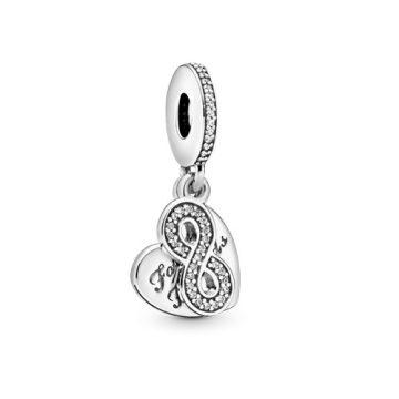 Pandora Örökké Barátok Függő Charm 791948CZ