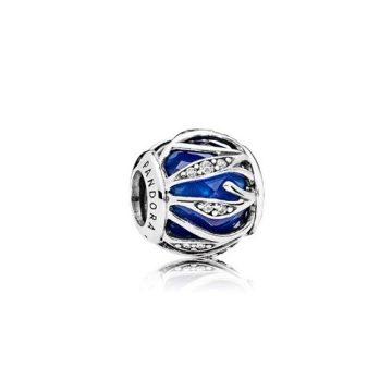 Pandora Királykék fonódó ragyogás charm 791969NCB