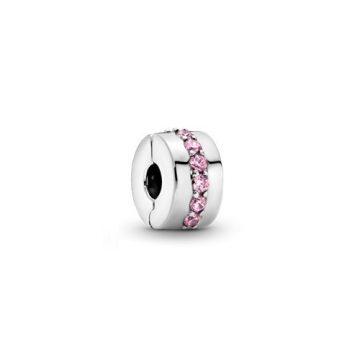 Pandora Rózsaszín fényes örvény klip 791972PCZ