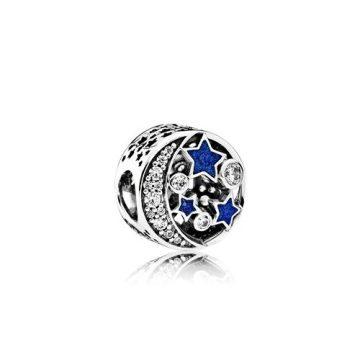 Pandora Vintage éjszakai égbolt charm 791992CZ