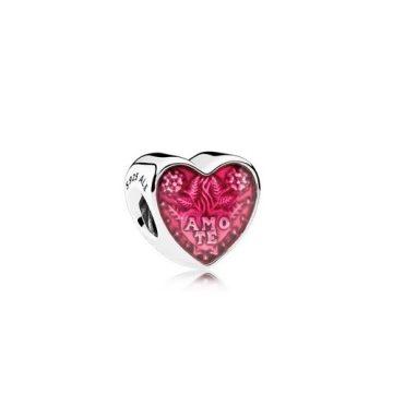 Pandora Szerető szív charm 792048EN117