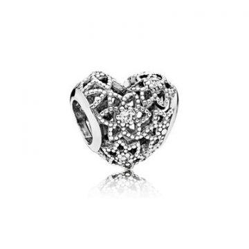 Pandora Virágzó Szív Charm 796264CZ