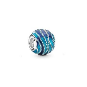 Pandora Kék örvény charm 797012ENMX